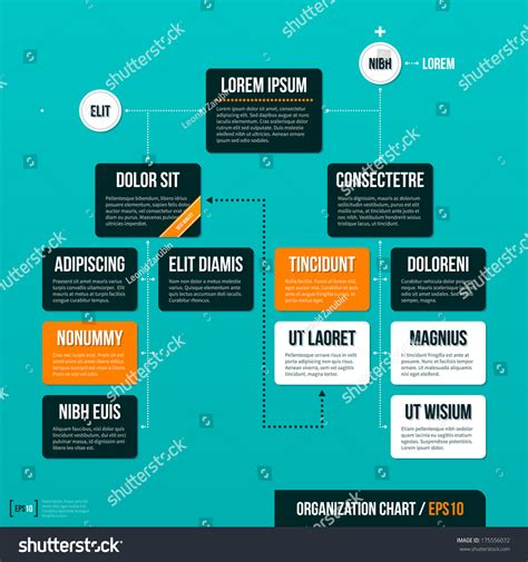 Royalty Free Modern Organizational Chart Template On 175556072 Stock Photo Avopix Com Drawings Org Chart Template