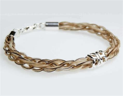 Handmade Hair Bracelets - gemosi solace hair bracelet with single silver