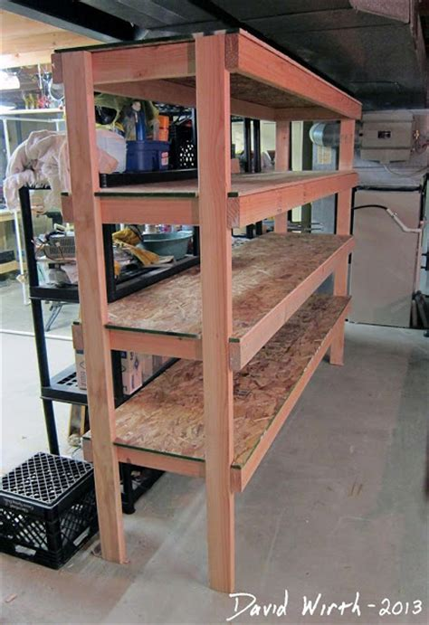 Garage Shelving Woodworking Plans Woodwork 2x4 Shelf Plans Garage Pdf Plans