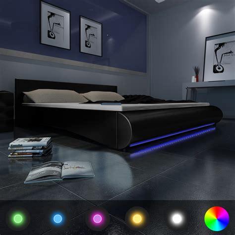 lit design 2 personnes avec led integre sommier