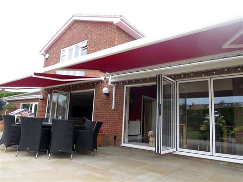 electric awnings uk bifold door awnings fitted in portchester awningsouth