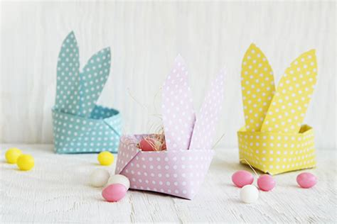 Origami Easter Bunny Basket - 31 diy easter baskets for your bunnies s