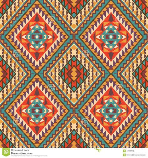navajo pattern background seamless colorful navajo pattern stock vector image