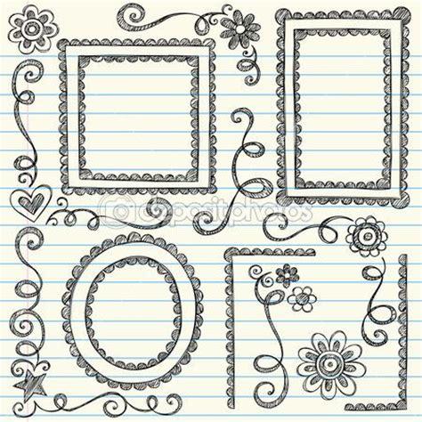 cornici disegnate cornici disegnate a mano smerlato doodle e bordo bordi