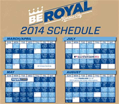 printable kansas city royals baseball schedule 2018 kansas city royals schedule gallery