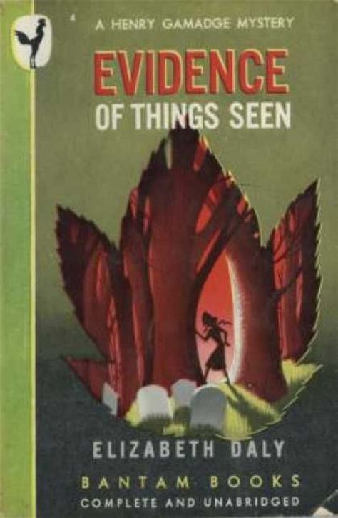 Elizabeth Daly Evidence Of Things Seen 1951 evidence of things seen by elizabeth daly book vintage and i