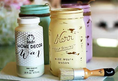 diy chalk paint jars jar crafts how to chalk paint your jars