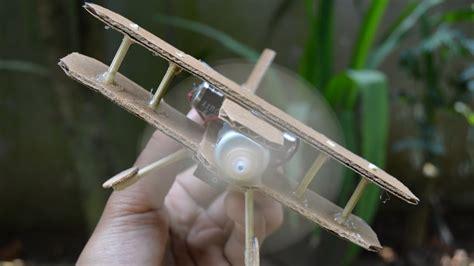 membuat pesawat drone sederhana cara membuat pesawat dengan dc dinamo diy mainan pesawat