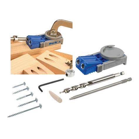 woodworking joinery tools kreg jig junior pocket wood joinery kit woodwork