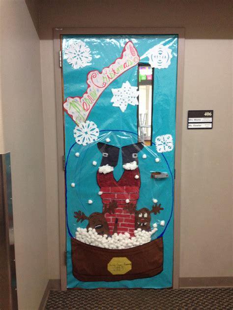 christmas themed doors christmas door decoration for a contest snow globe