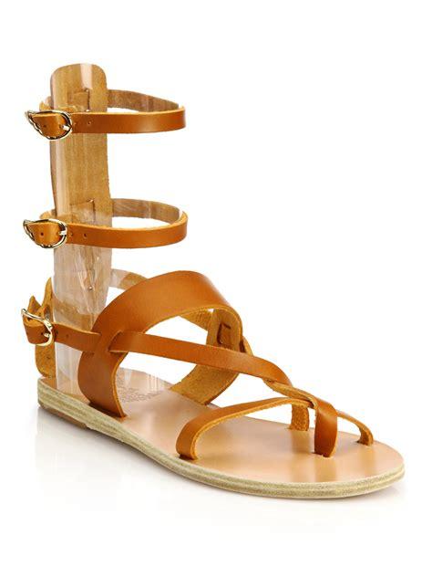 ancient sandal ancient sandals alethea leather mid gladiator