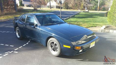 porsche 944 blue porsche 944 na sunroof coupe