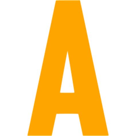 Letter A Orange Letter A Icon Free Orange Letter Icons