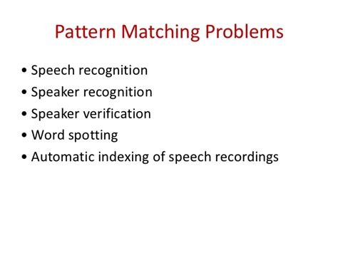 pattern matching video lecture digital speech processing lecture1