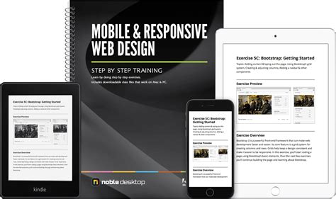 html design book download noble desktop mobile responsive web design training book