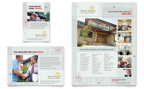 property brochure template free real estate realtor flyer ad template design