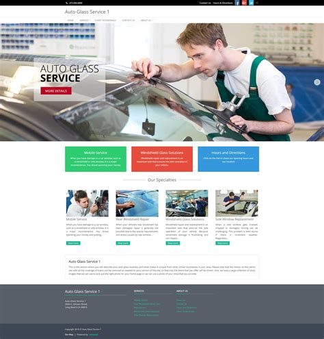 Auto Glass Service Shop Website Demo Limited Time Offer 50 Off Izmoauto San Francisco Glass Website Templates