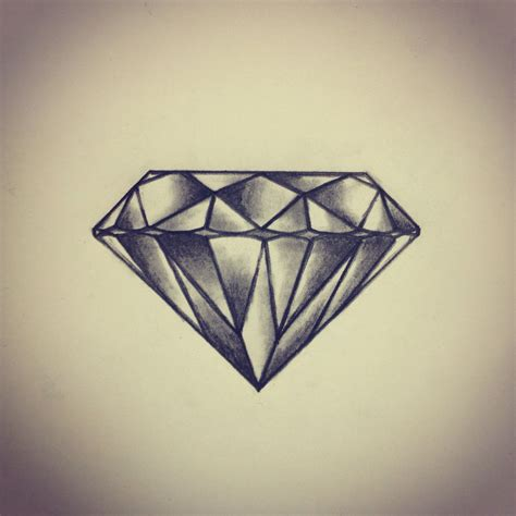tattoo diamond sketch drawing by ranz i think i d