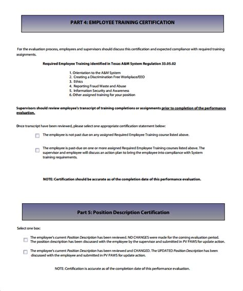 supervisor evaluation form template 29 images of supervisor evaluation form template