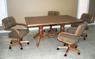 He wood kitchen chair with caster wheels she