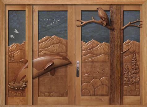 Carved Wood Doors by Carved By Ramsey Carved Wood Doors Wildlife Carving