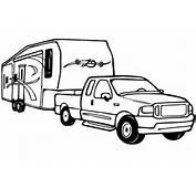 And Rv Camper Trailer Coloring Page Free Printable Pages