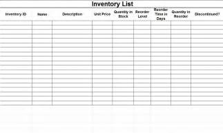 parts inventory template inventory templates free inventory templates