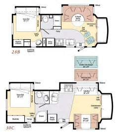 Motorhome Plans by Gallery For Gt Class C Motorhomes Floor Plans