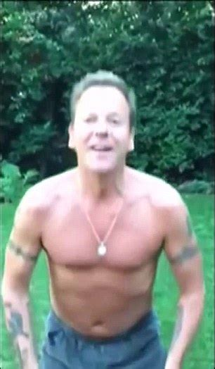 kiefer sutherland tattoos shirtless kiefer sutherland takes on als