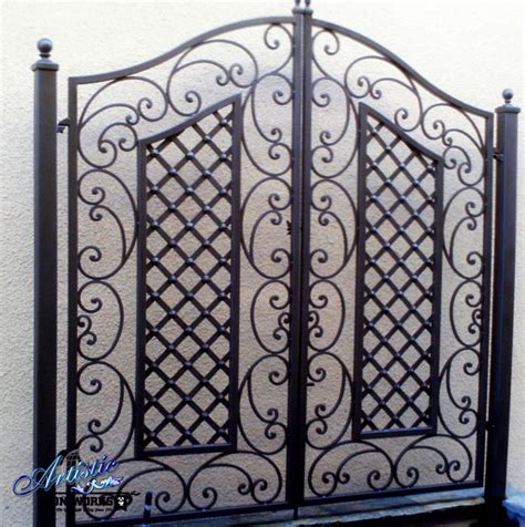 Black Wrought Iron Trellis wrought iron trellises traditional outdoor products las vegas by artistic iron works