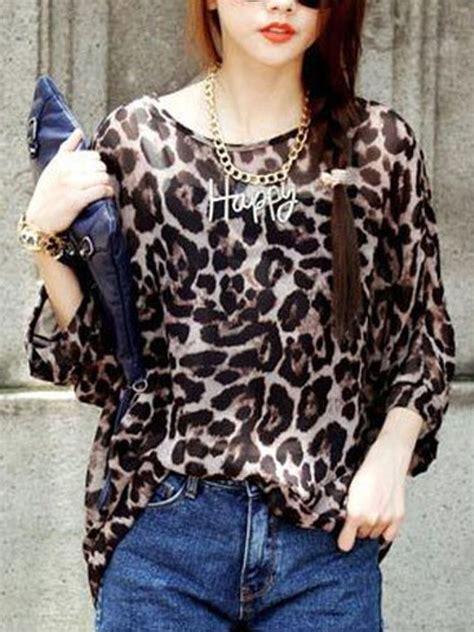 Leopard Chiffon Top korea fashion leopard print chiffon top e25587 cilory