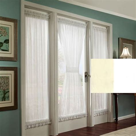 french door privacy curtains stacey privacy french door panel with tieback office