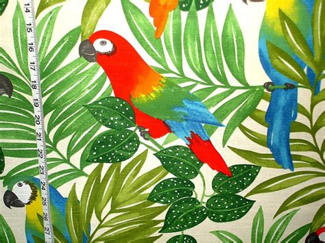 jungle pattern fabric uk items similar to parrot fabric tropical jungle bright