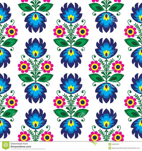 art pattern repetitive seamless traditional floral polish pattern ethnic