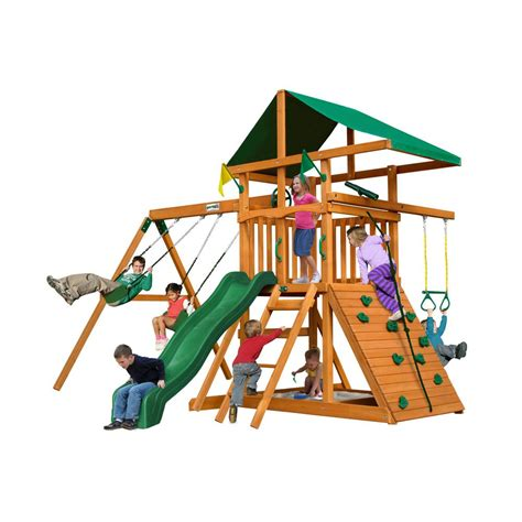 home depot swing set accessories gorilla playsets outing iii cedar playset browns tans