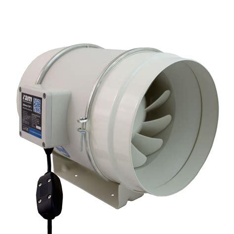 inline bathroom fan ram mixed flow inline extractor fan 100mm 4 199 m3 hr