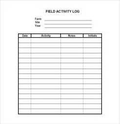activity templates sle log template documents in pdf word excel