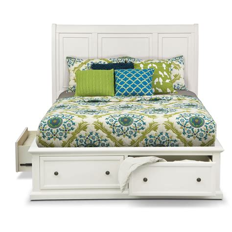 white queen beds hanover white queen storage bed value city furniture
