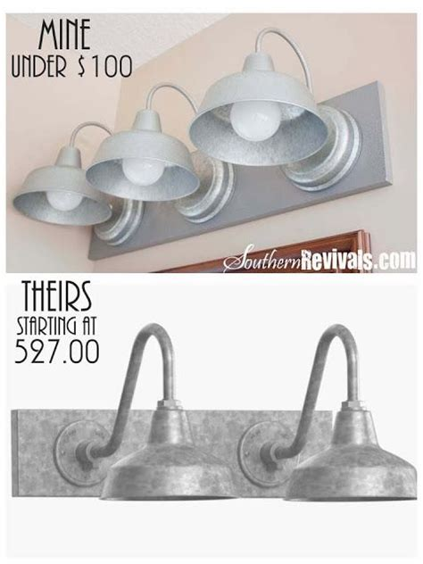Galvanized Vanity Light Diy Galvanized Gooseneck Vanity Light Fixture For 100