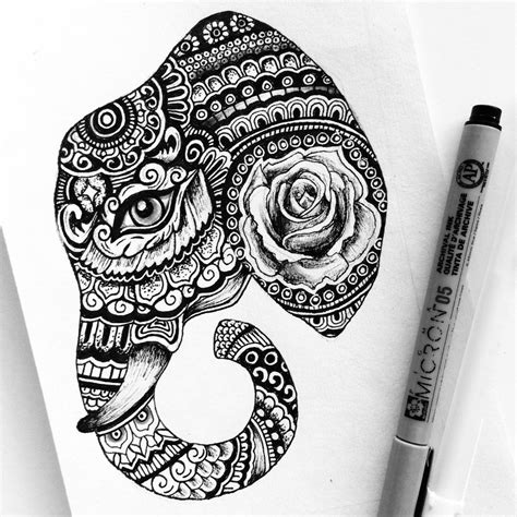 sketch pen pattern black pen drawing designs black and white art pen and ink