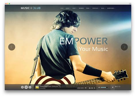 theme music club 20 of the best wordpress themes for musicians 2017 colorlib