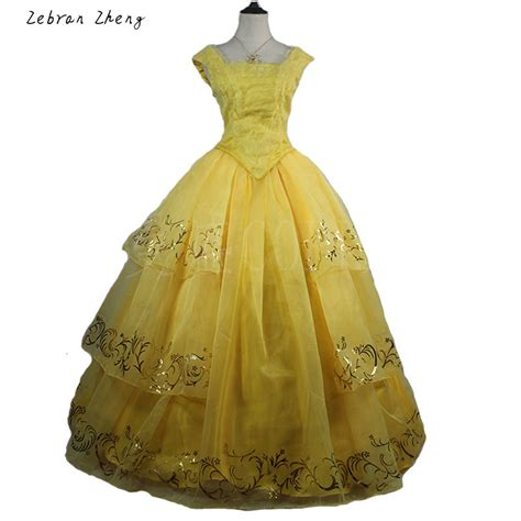 2017 new moive beauty and the beast belle princess yellow
