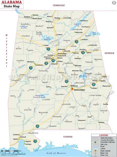maps of alabama cities state map of alabama alabama maps alabama