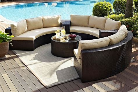 round patio sectional sectional patio furniture outdoor sectional patio
