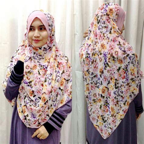 Blouse Adena shawl printed chiffon labuh adena saeeda collections