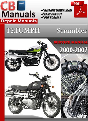 Triumph Scrambler 2000 2007 Service Repair Manual Ebooks