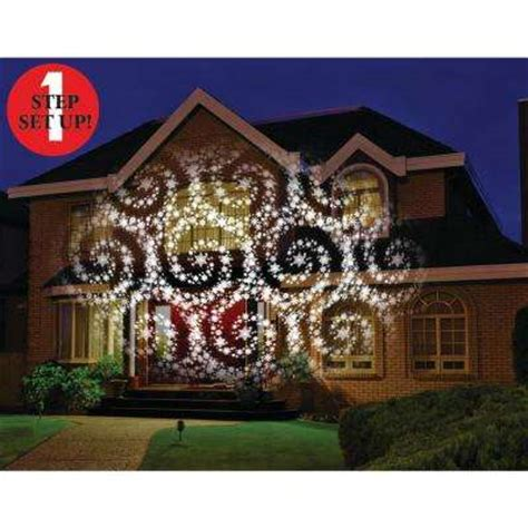 christmas lights projected on house light projectors spotlights outdoor decorations the home depot