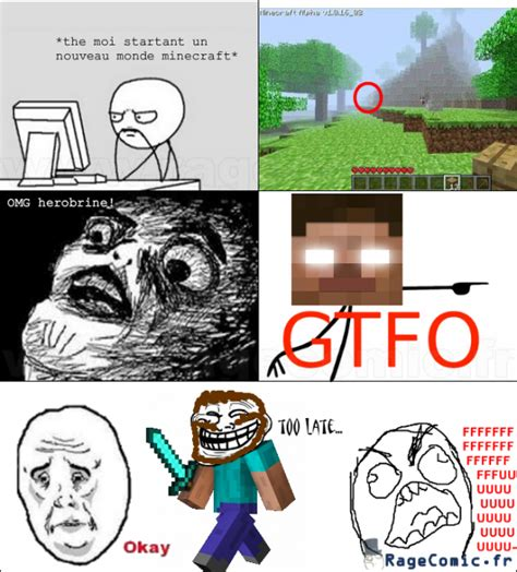 Minecraft Herobrine Memes - minecraft rage comics herobrine www imgkid com the
