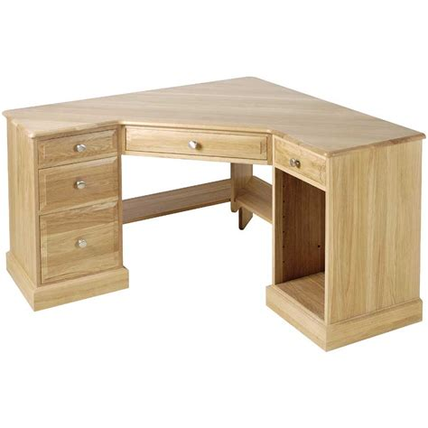 Wooden Corner Desk Corner Computer Desk For Effective Space My Office Ideas