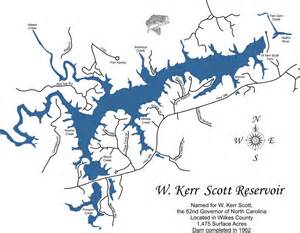 Cheap Online Home Decor Wood Laser Cut Map Of W Kerr Scott Lake Nc Topographical